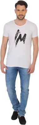 Being Human Clothing Printed Men's Round Neck White T-Shirt