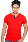Evermore Stores Solid Men's Henley Red, ...