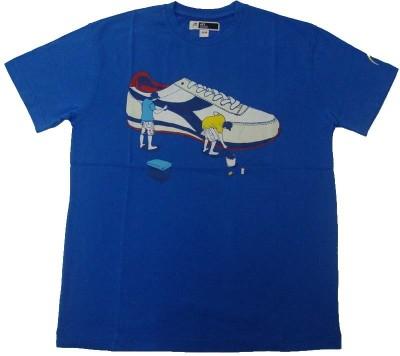 Acetone Solid Men's Round Neck Light Blue T-Shirt