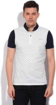 Killer Printed Men's Fashion Neck White, Blue T-Shirt
