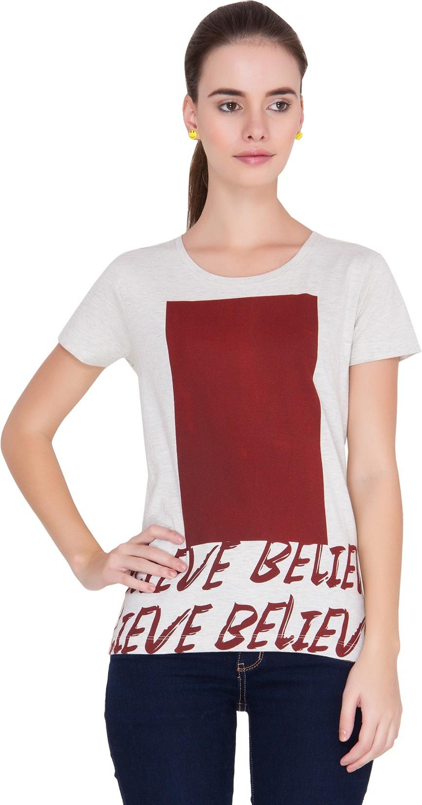Alibi Printed Womens Round Neck T Shirt