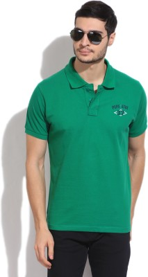 Pepe Solid Men's Polo Green T-Shirt