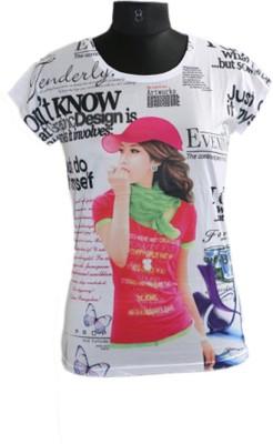 SmartsZone Printed Women's Round Neck T-Shirt