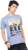 Zootx Printed Men's Round Neck Light Blu...