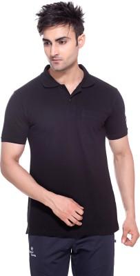 Sport Sun Solid Men's Polo Neck Black T-Shirt
