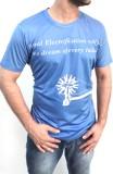 Myfizi Printed Men's Round Neck Blue T-S...