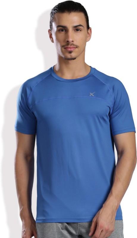 HRX by Hrithik Roshan Solid Men's Round Neck Blue T-Shirt