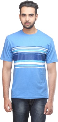 MAC Striped Men's Round Neck T-Shirt