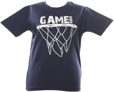 Anthill Graphic Print Boy's Round Neck Dark Blue T-Shirt