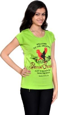 Zoddha Printed Women's Round Neck Reversible T-Shirt