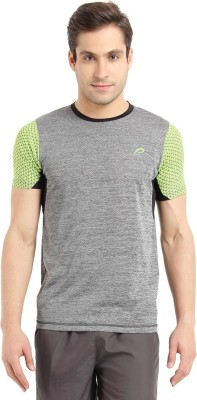 Proline Printed Mens Round Neck Black T-Shirt
