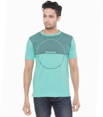 Wexford Printed Men's Round Neck Green T-Shirt