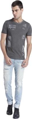 Jack & Jones Solid Men's Round Neck Grey T-Shirt
