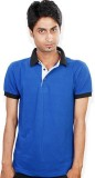 Evermore Stores Solid Men's Polo Neck Bl...