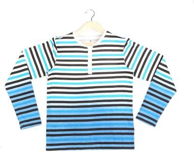 Allen Solly Striped Boy's Henley White T-Shirt