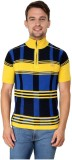 Zeco Woven Men's Polo Neck Yellow T-Shir...