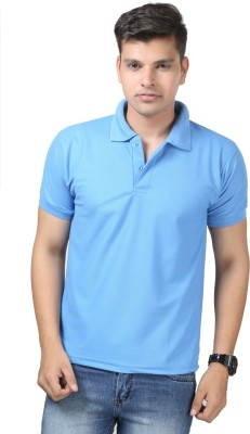 Etoffe Solid Men's Polo Light Blue T-Shirt
