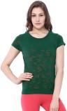 C9 Printed Women's Round Neck Green T-Sh...