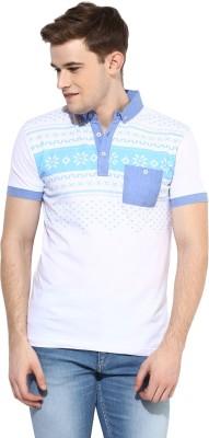 Benoit Printed Men's Polo White T-Shirt