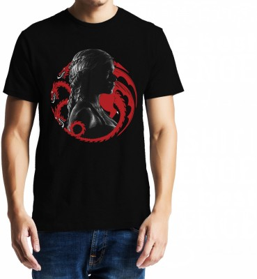 Baklol Printed, Graphic Print, Solid Men's Round Neck Black T-Shirt
