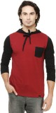 Rigo Solid Men's Round Neck Red T-Shirt