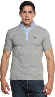 Arrow Sport Solid Men's Polo Neck Grey T-Shirt