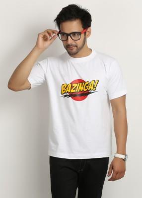 Weardo Printed Men's Round Neck White T-Shirt