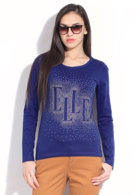 Elle Solid Women's Round Neck T-Shirt