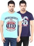 American Crew Printed Men's Round Neck B...