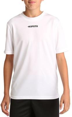Kipsta Solid Boy's Round Neck T-Shirt