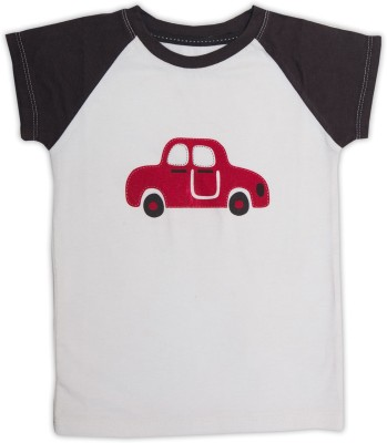 Nino Bambino Printed Boy's Round Neck White T-Shirt