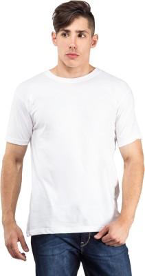 The Odd Toe Solid Men's Round Neck White T-Shirt