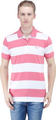 Lotto Striped Men's Polo Pink T-Shirt