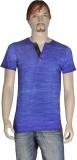 Point Sevan Printed Men's V-neck Blue T-...