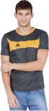 Canyons Solid Men's Round Neck Grey T-Sh...