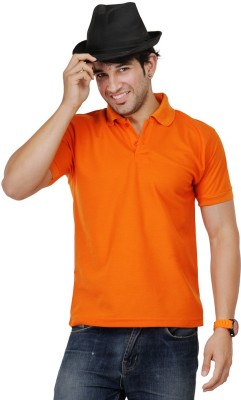 TSX Sportsman Solid Men's Polo Orange T-Shirt