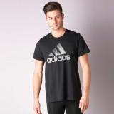 Adidas Solid Men's Polo Neck Black T-Shi...