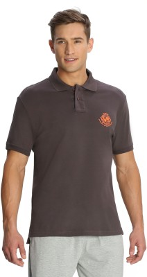 Jockey Solid Men's Polo Brown T-Shirt