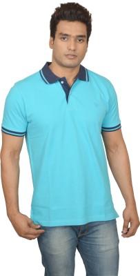 Woodside Solid Men's Polo Light Blue T-Shirt