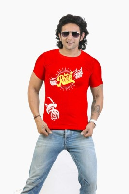 NSS Printed Men's Round Neck Red T-Shirt