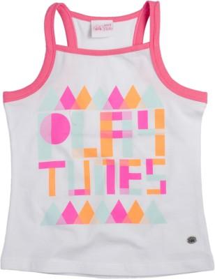 FS Mini Klub Printed Baby Girl's Square Neck T-Shirt