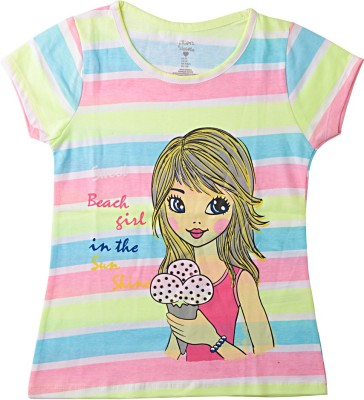 Lulu Striped Girl's Round Neck T-Shirt