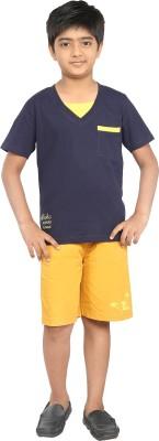 Seals Solid Boy's V-neck T-Shirt