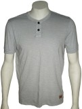 Cool Club Solid Men's Henley Grey T-Shir...