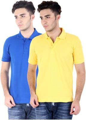 Perfect 10 Solid Men's Polo Neck Multicolor T-Shirt