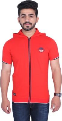 Duke Stardust Solid Men's Hooded Red T-Shirt