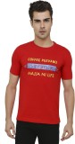 Folkswear Printed Men's Round Neck Red T...