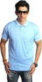 EPG Solid Men's Polo Neck Light Blue T-S...