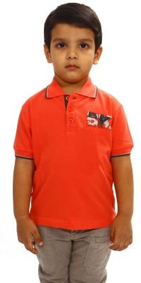 Bio Kid Solid Boy's Polo Orange T-Shirt