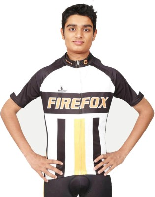 Triumph Firefox Printed Men's Round Neck Black T-Shirt